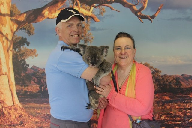 Josef first koala hug
