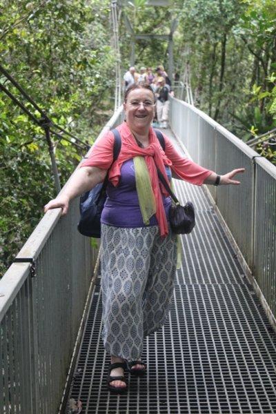 Lilly on the bridge
